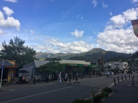 walking around in Hanmer springs